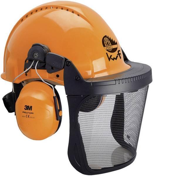 Caschi di protezione - Casco forestale con visiera integrata Arancione 3M Forest XA007707376 -