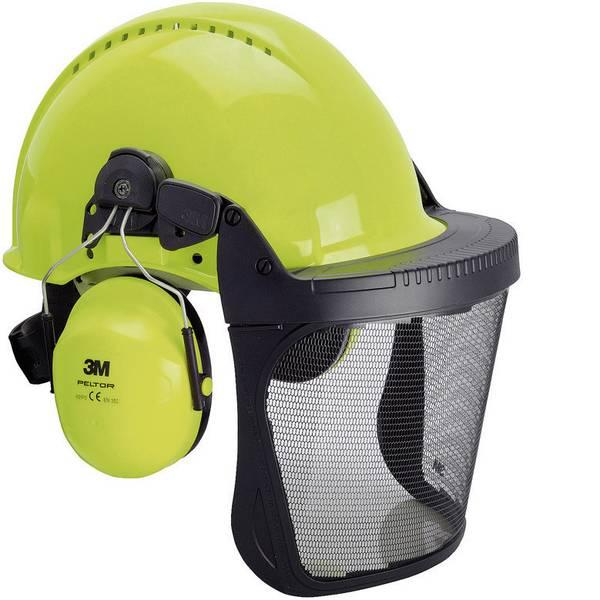 Caschi di protezione - Casco forestale con visiera integrata Verde Neon 3M G3000 XA007707277 -