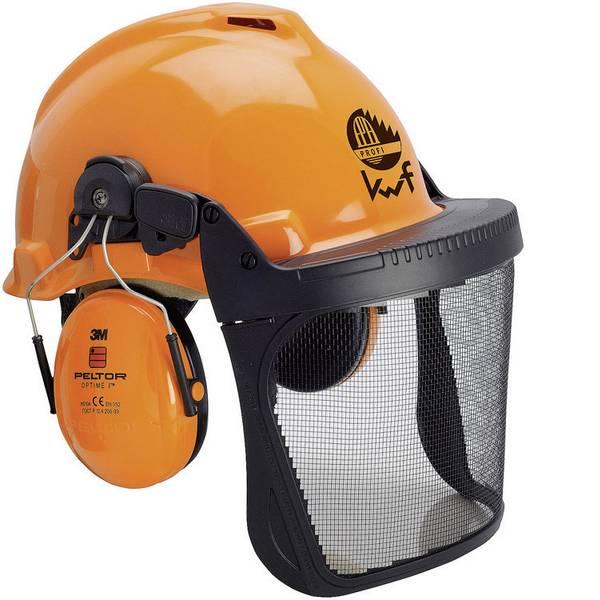 Caschi di protezione - Casco forestale con visiera integrata Arancione 3M Forest XA007707335 -