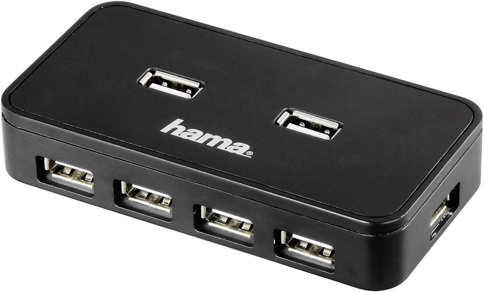 Hama 7 Porte Hub USB 2.0 Nero
