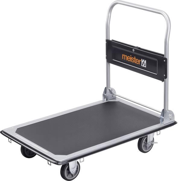 Carrelli con pianale - Carrello con pianale pieghevole, con vano portaoggetti Acciaio Capacità di carico (max.): 300 kg Meister Werkzeuge  -
