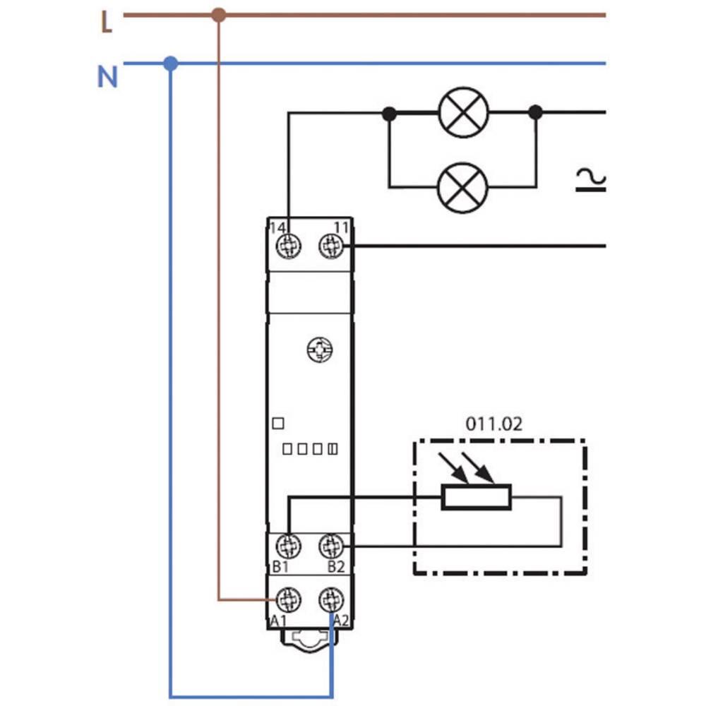 Schema Elettrico Relè Interruttore : Interruttore crepuscolare 1 pz. finder 11.31.8.230.0000 tensione di