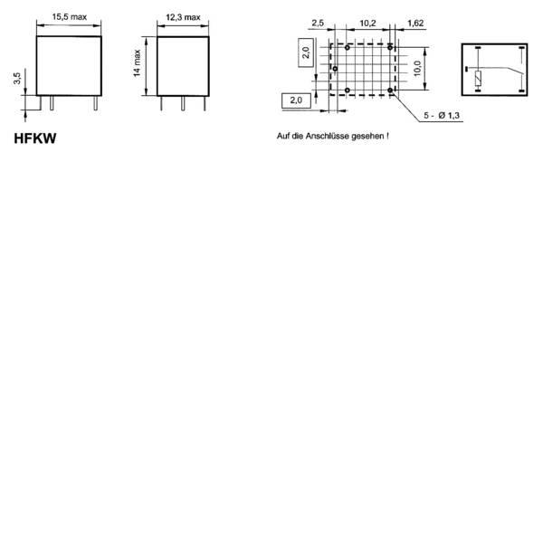 Relè auto - Relè per auto 24 V/DC 10 A 1 scambio Hongfa HFKW/024-1Z W -
