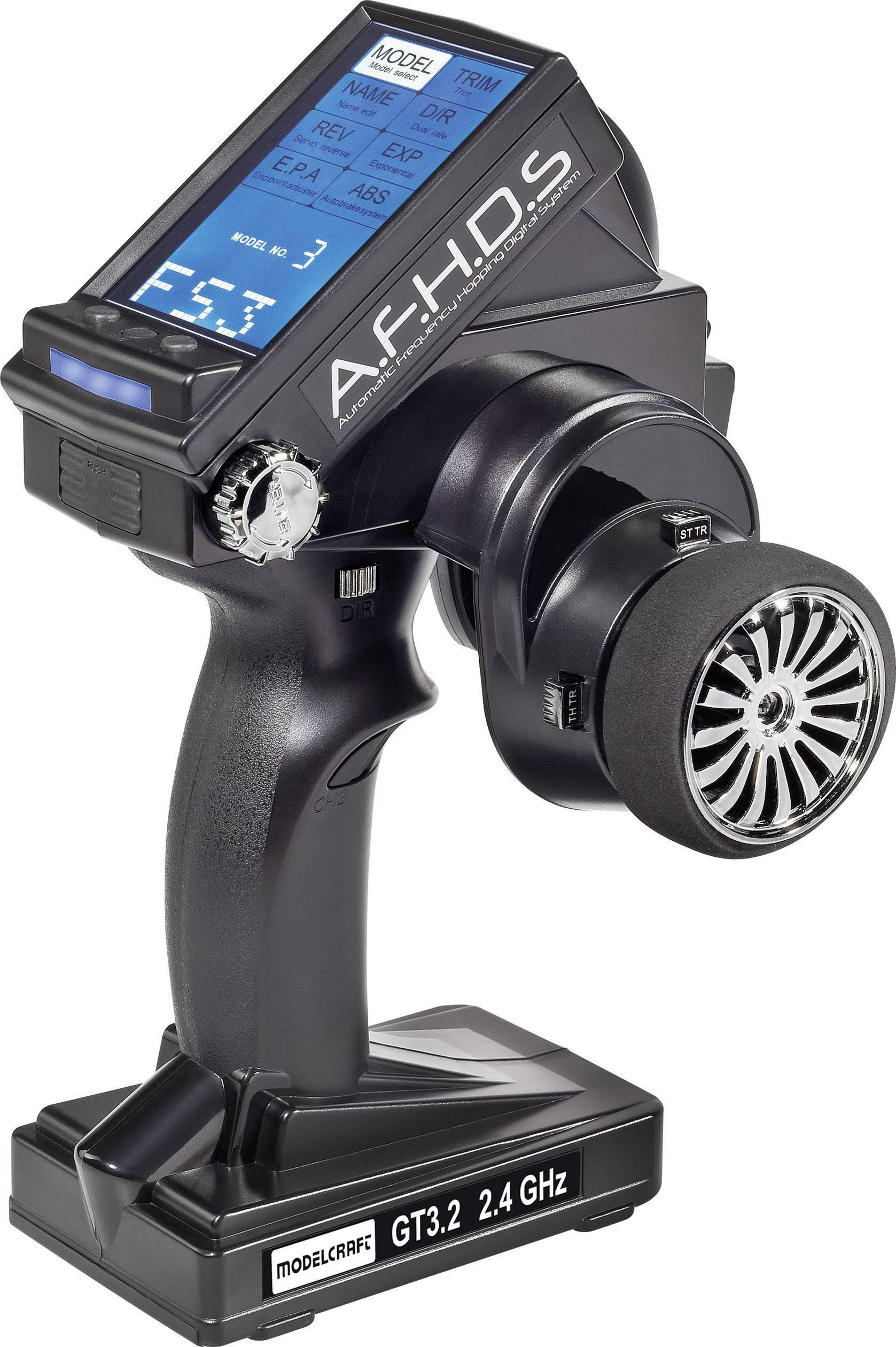 Radiocomando con impugnatura a pistola Modelcraft GT3.2 2,4 GHz Numero canali: 3 incl. ricevitore