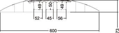 Adam Hall Ponte passacavi Poliuretano Nero, Giallo Numero canali: 3 1000 mm Contenuto: 1 pz.