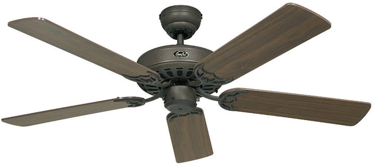Ventilatore a Soffitto Classic Royal in ottone lucidato 75 cm fino a 132 cm con interruttore