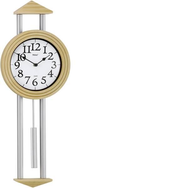 Orologi da parete - Mebus 665102 Quarzo Orologio da parete 22 cm x 60.5 cm x 6 cm Argento, Acero -