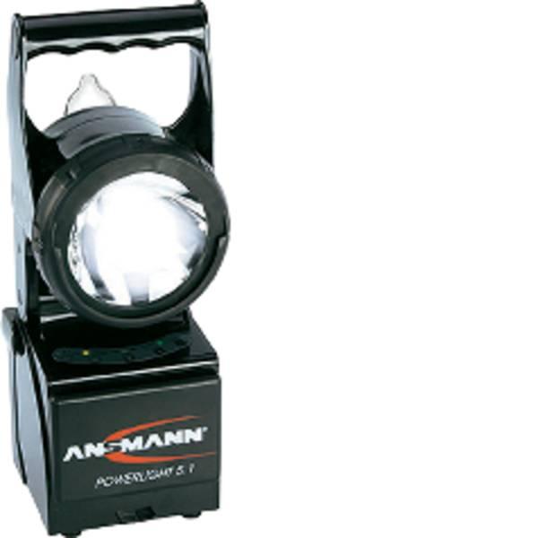 Torce con batterie ricaricabili - Ansmann 5802082/510 Lampada portatile a batteria Powerlight 5.1 Nero Lampadina Alogena, LED 20 h -