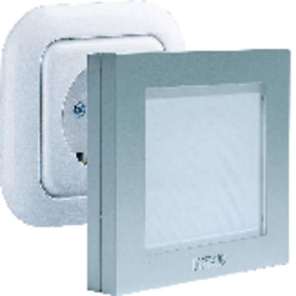 Luci notturne - m-e modern-electronics Lampada notturna Quadrato LED Bianco Argento -