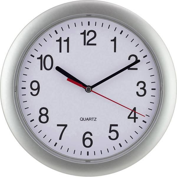 Orologi da parete - EUROTIME 22222 Quarzo Orologio da parete 25 cm Argento -
