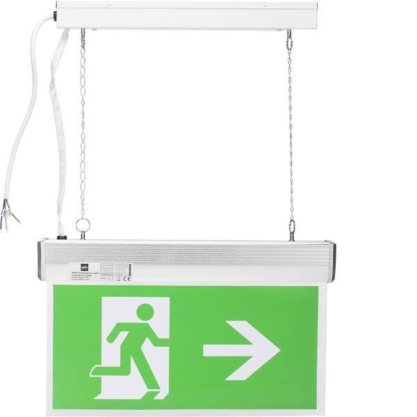 Segnaletica per uscite d`emergenza - Indicazione via di fuga illuminata Montaggio a soffitto Smartwares 10.040.72 -