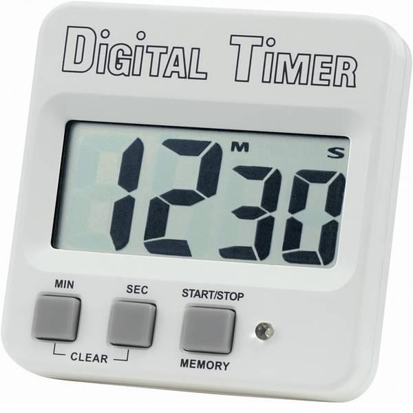 Timer - Basetech 640532 Timer Bianco, Nero digitale -