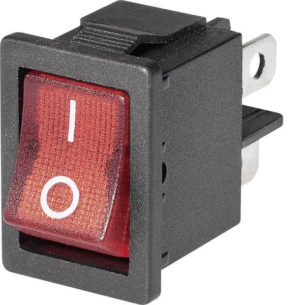 Interruttori per auto - Interruttore a bilanciere Mini-Wippenschalter MIRS-201C3 1xEin beleuchtet 1 pz. -