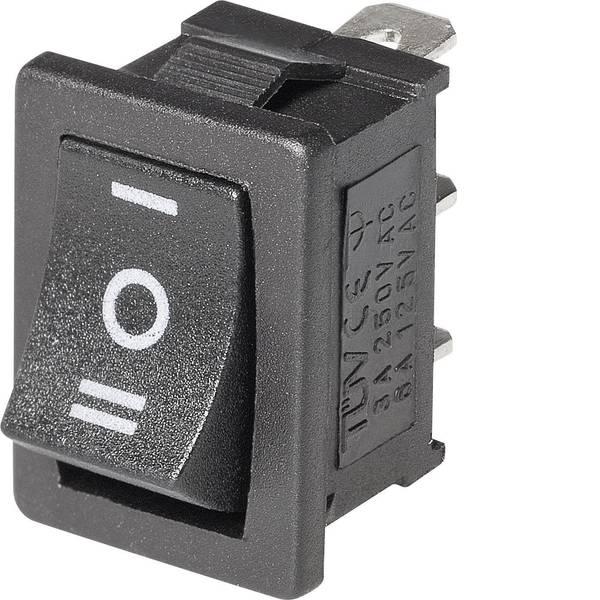 Interruttori per auto - Interruttore a bilanciere Mini-Wippenschalter MRS-103-C6 Ein-Aus-Ein 1 pz. -