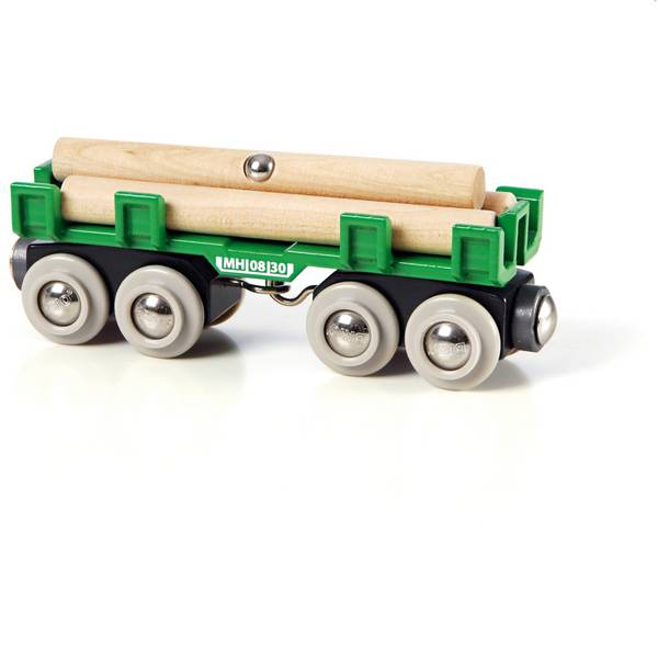 Trenini e binari per bambini - Brio Waggon mit Holzladung 33696002 -