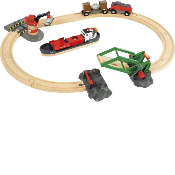Trenini e binari per bambini - Brio Container Hafen Set 33061000 -