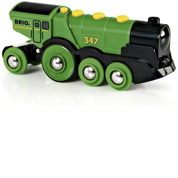Trenini e binari per bambini - Brio Grüner Gustav Batterielok 33593000 -