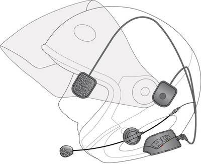 Interfono per moto IMC 1133 BTS-300 Adatto per tutti i tipi di caschi