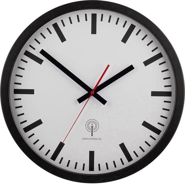 Orologi da parete - EUROTIME 56862 Radiocontrollato Orologio da parete 40 cm Nero -