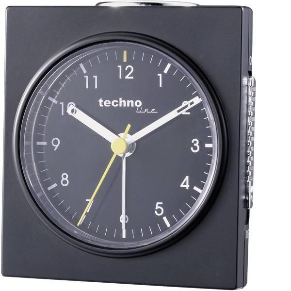 Sveglie - Techno Line Model Q schwarz Quarzo Sveglia Nero (opaco) Tempi di allarme 1 -