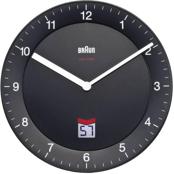 Orologi da parete - Braun 66012 Radiocontrollato Orologio da parete 20 cm Nero Movimento silenzioso (senza scatti) -