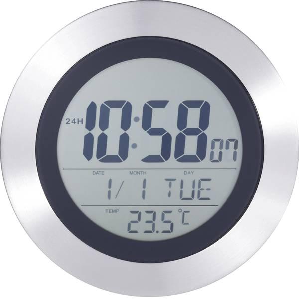 Orologi da parete - KW 9092 Radiocontrollato Orologio da parete 204 mm x 204 mm x 32 mm Argento, Nero -
