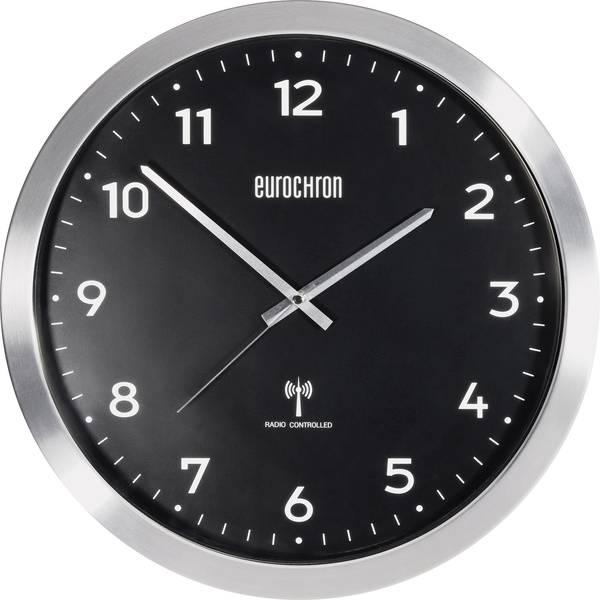 Orologi da parete - Eurochron EFWU 2601 Radiocontrollato Orologio da parete 38 cm x 48 mm Alluminio (spazzolato) -