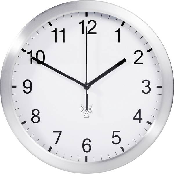Orologi da parete - TFA 98.1091.02 Radiocontrollato Orologio da parete 25 cm x 4 cm Alluminio (opaco) -