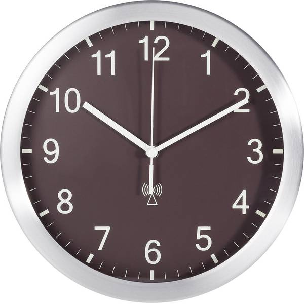 Orologi da parete - TFA 98.1091.08 Radiocontrollato Orologio da parete 25 cm x 4 cm Alluminio (opaco) -