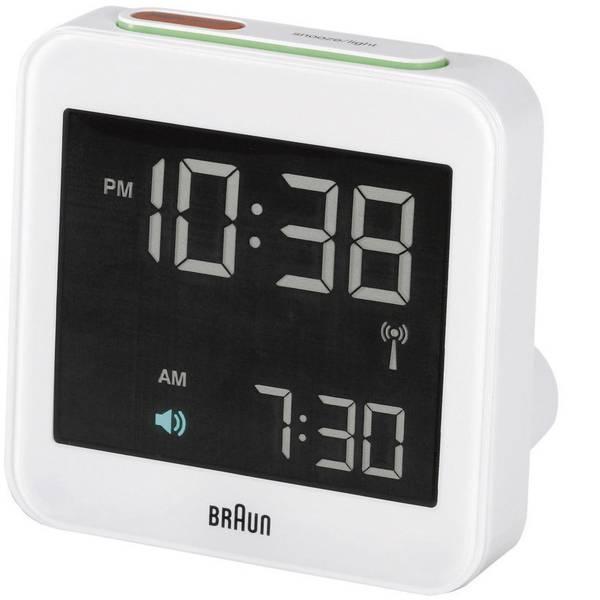 Sveglie - Braun 66019 Radiocontrollato Sveglia Bianco -