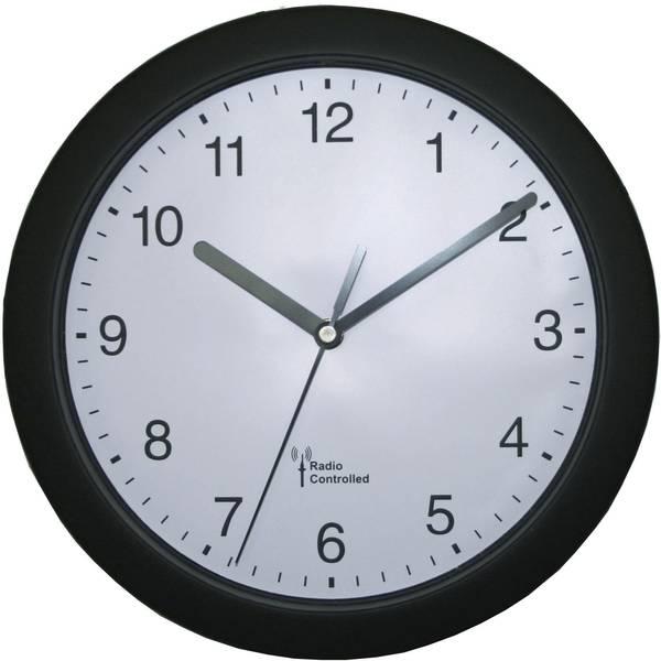 Orologi da parete - EUROTIME 56785 Radiocontrollato Orologio da parete 25 cm x 3.8 cm Nero -