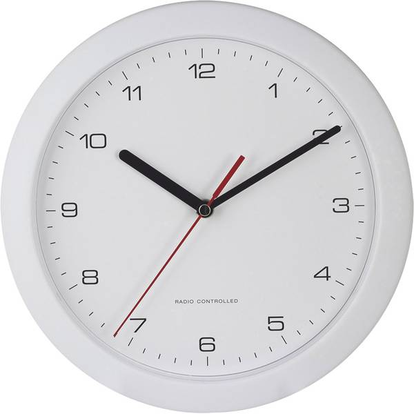 Orologi da parete - EUROTIME 56786 Radiocontrollato Orologio da parete 25 cm x 3.8 cm Bianco -