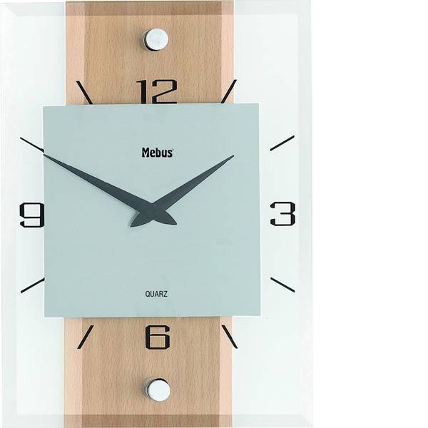 Orologi da parete - Mebus 18220 Quarzo Orologio da parete 20 cm x 28 cm x 5 cm Faggio, Alluminio -