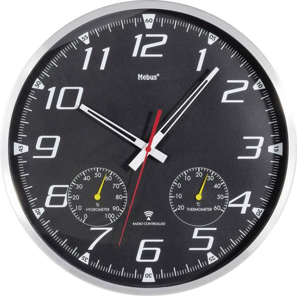 Orologi da parete - Mebus 52660 Orologio da parete Alluminio -