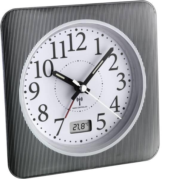 Sveglie - TFA 60.1502.10 Radiocontrollato Sveglia Grigio, Bianco Tempi di allarme 1 -