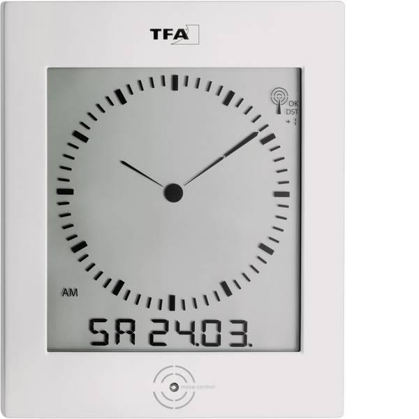 Orologi da parete - TFA 60.4506 Radiocontrollato Orologio da parete 220 mm x 265 mm x 31 mm Argento -