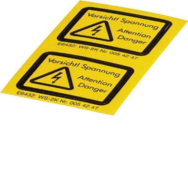 Targhette di avvertenza - Targhetta combinata di pericolo Attenzione Vorsicht! Spannung Pellicola adesiva 10 pz. -