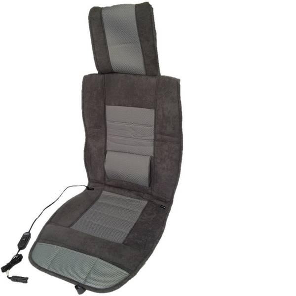 Coprisedili riscaldati e rinfrescanti per auto - Rivestimento riscaldante per sedile Profi Power 12 V 2 livelli di calore, Supporto lombare Nero, Grigio -