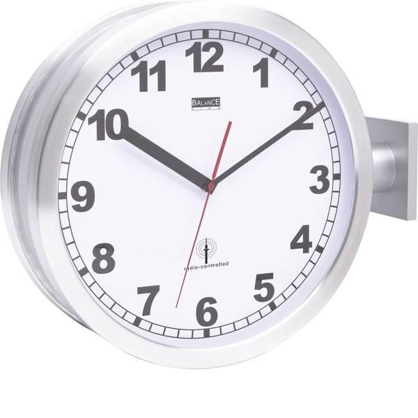 Orologi da parete - EUROTIME 91764-47 Radiocontrollato Orologio da parete 40 cm Alluminio -