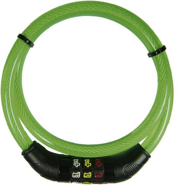 Lucchetti da bicicletta - Lucchetto a cavo Security Plus CSL80grün Verde Lucchetto con codice a simboli -