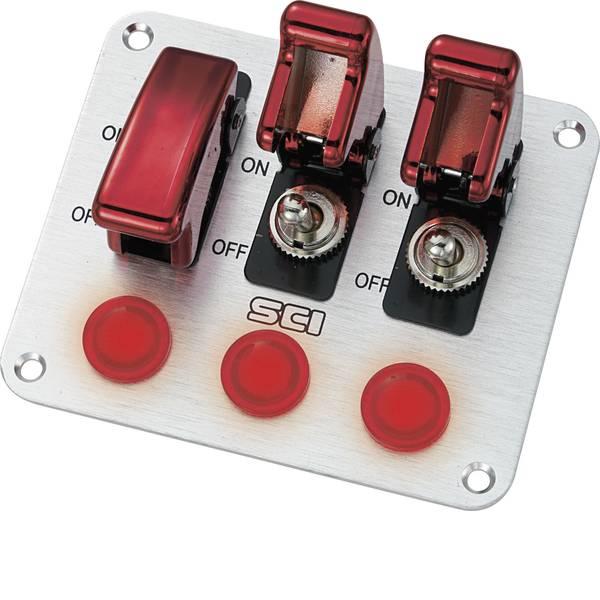 Interruttori per auto - TRU COMPONENTS Pannello di comando per auto TC-R18-P3A 12 V/DC 20 A 1 x Off / On Permanente 1 pz. -