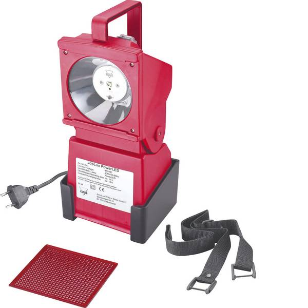 Torce con batterie ricaricabili - AccuLux 452441 Lampada portatile a batteria JobLux Rosso segnale LED 11 h -