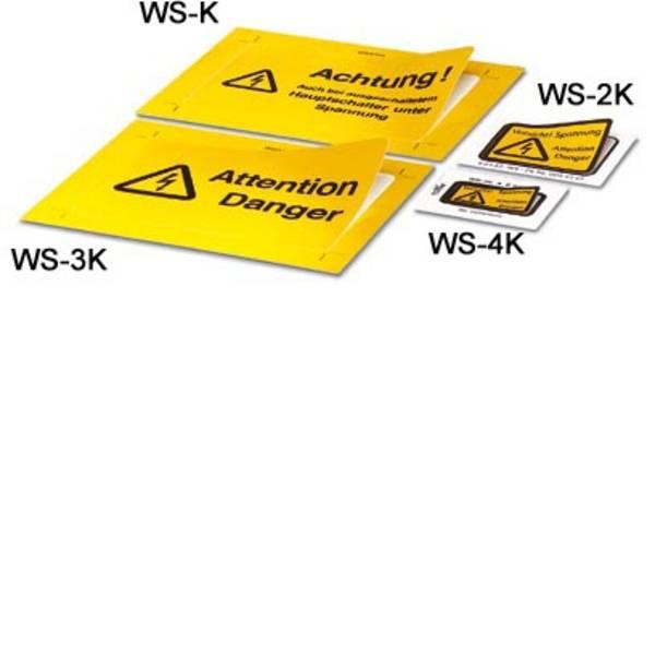 Targhette di avvertenza - Targhetta combinata di pericolo Attenzione Pellicola adesiva 10 pz. -