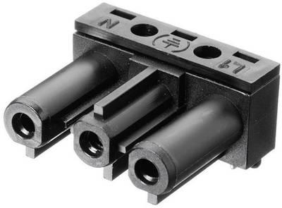 Connettore di alimentazione AC Serie: AC Tot poli: 2 + PE 16 A Bianco Adels-Contact AC 166 GBULH/ 3 1 pz. Presa angolata