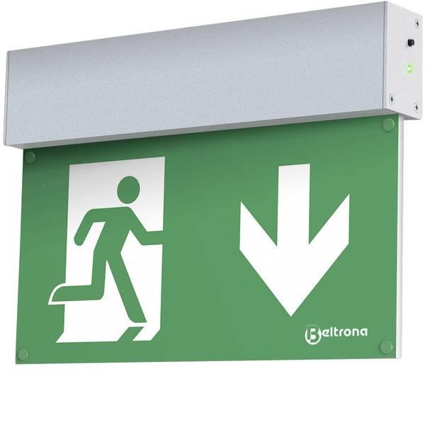 Segnaletica per uscite d`emergenza - Indicazione via di fuga illuminata Montaggio a soffitto Beltrona MEXM7.25.03 -