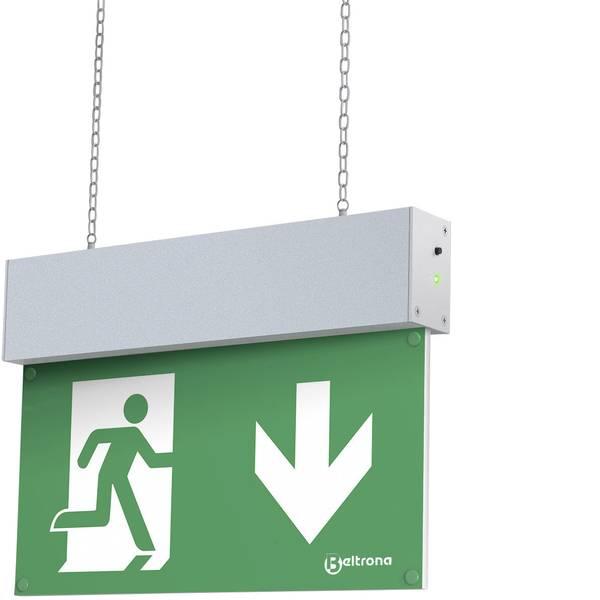 Segnaletica per uscite d`emergenza - Indicazione via di fuga illuminata Montaggio con catene Beltrona MEXM7.25.04 -