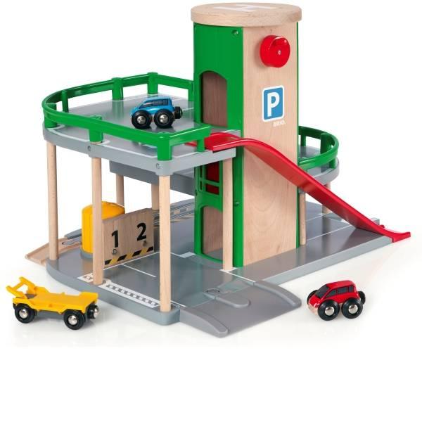 Veicoli giocattolo per bambini - Parcheggio BRIO casa, strade e guide -