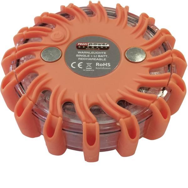 Sicurezza per veicoli - Profi Power Spia lampeggiante demergenza Batteria agli ioni di litio 600 mAh caricabile a 12/24 /230 V Arancione -
