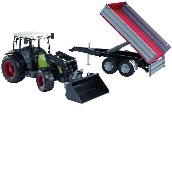 Veicoli agricoli - bruder Claas Nectis 267F+Frontlader+Anhänger -