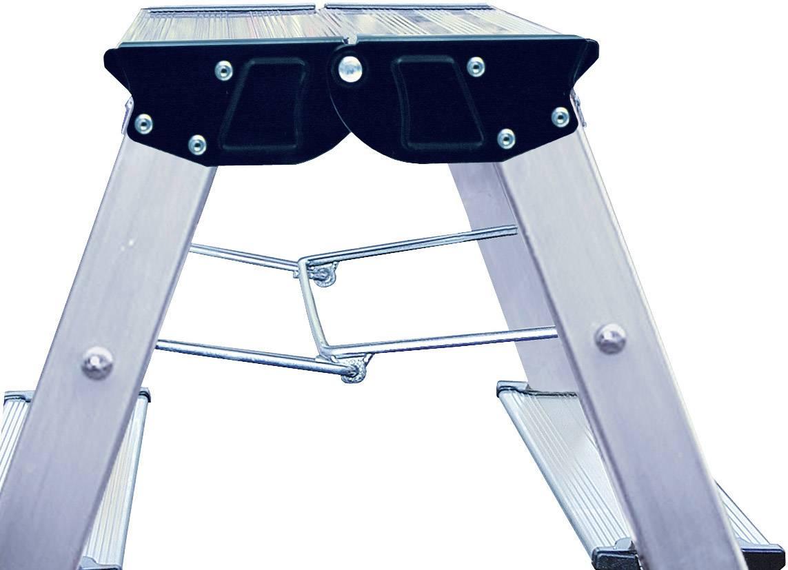 Scaletta a due gradini con rotelle